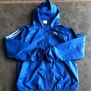 Adidas boys hooded windbreaker jacket